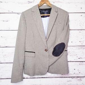 British Khaki Herringbone Blazer Career Jacket